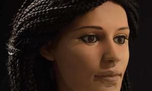 Portada - Reconstrucción facial de una mujer egipcia que vivió hace unos 2.000 años. (Fotografía: Paul Burston / Universidad de Melbourne)
