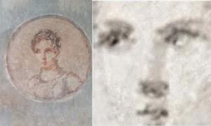 Portada - El mapa del elemento hierro (derecha) obtenido con la nueva tecnología de rayos X revela la destreza artística subyacente bajo la suciedad y el salitre que cubren el antiguo retrato de una mujer romana (izquierda). Fotografía: Dr. Roberto Alberti.