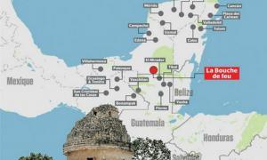 Portada - Situación geográfica de la supuesta ciudad maya descubierta por William Gadoury, a la que el propio joven ha bautizado como K'àak' Chi' (La Boca de Fuego). ( Le Journal de Montréal )