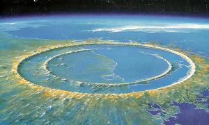 Portada - Localización del cráter de Chicxulub en la península mexicana de Yucatán (Granada Hoy)