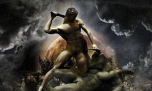 Portada - Teseo y el Minotauro. Fuente: kenernest63a/Deviant Art