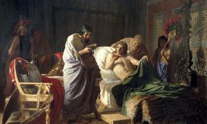 Portada - Alejandro Magno y el médico Filipo de Acarnania. Fuente: Fulvio314/Dominio público.