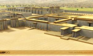 Portada - Reconstrucción informática tridimensional de la antigua ciudad de Amarna. Imagen: Paul Docherty Amarna3d.com