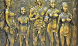 Portada - Relieve en el que aparecen retratados varios individuos de la tribu Jarawa de las islas Andamán. (Kailash Kumbhkar/CC BY-SA 4.0)