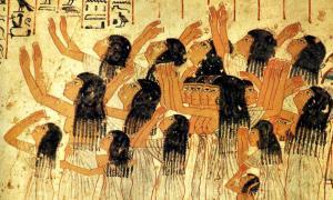 Portada - Fresco de la tumba de Ramsés (XVIII dinastía) en el que se puede observar un numeroso grupo de plañideras. (Public Domain)