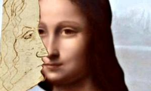 Portada - Fotomontaje con el perfil recientemente descubierto y el retrato oculto bajo la Mona Lisa. (Fotografía: ABC)