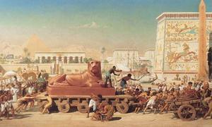 """Portada - """"Israel en Egipto"""", óleo de Edward Poynter, 1867. Fuente: Dominio público"""