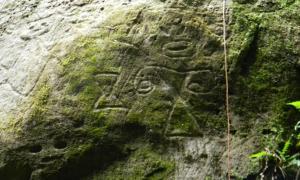 Portada - Algunos de los petroglifos recientemente descubiertos en Montserrat. Fotografía: Ravo R