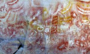 Portada - Pinturas rupestres aborígenes en las que se observan alineamientos astronómicos.