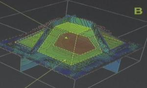 Portada - Representación esquemática de la pirámide oculta descubierta en el interior de la gran pirámide de Kukulkán (BBC)