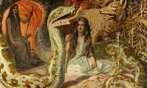 """Portada - """"La progenie de Loki"""" (1905), ilustración de Emil Doepler. (Public Domain)"""