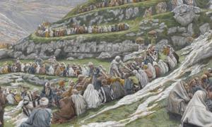 Portada - 'El milagro de los panes y los peces', acuarela de James Tissot, Museo de Brooklyn. Fuente: Dominio público
