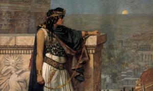 Portada - La reina Zenobia contempla Palmira por última vez. (Public Domain)