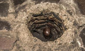 Portada - Se han descubierto los restos de un niño sacrificado por los aztecas en un sorprendente enterramiento hallado en el Templo Mayor de Tenochtitlán (México). Fuente: Mirsa Islands/Proyecto Templo Mayor, INAH