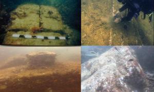 Portada-Algunas de las ruinas submarinas descubiertas junto a las costas de Mahabalipuram. Fotografías: NIO