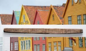Portada - Inscripción rúnica hallada en Bergen. (Imagen: Svein Skare, Museo de la Universidad de Bergen / Fotomontaje: ThorNews)