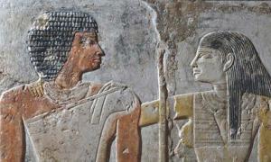 Portada - Detalle de una pintura funeraria en la que aparecen representados Meretites y Kahai – una pareja del antiguo Egipto que vivió hace 4.400 años. Fotografía: Ms. Effy Alexakis/Macquarie University Ancient Cultures Research Centre