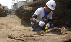 Portada - Excavación de una las tumbas pre-incas del yacimiento. Fuente: Johnny Aurazo
