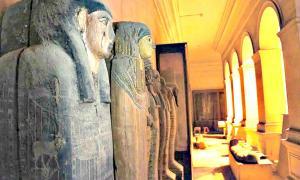 Portada - Sarcófagos y ataúdes expuestos en el Museo Egipcio del Cairo, Egipto. (Fotografía: El Mundo/ Ministerio de Antigüedades Egipcio)