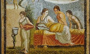 Portada - Escena erótica de un mosaico romano de Centocelle, siglo I d. C. (Alberto Fernandez Fernandez/ CC BY SA 2.5)