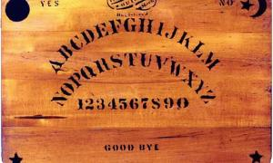 Portada - Tablero Ouija original del año 1894. (Public Domain)