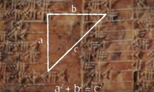 """Portada - Tablilla babilónica de hace 3.700 años con el """"Teorema de Pitágoras"""" (Fotografía: Universidad de Nueva Gales del Sur/Youtube)"""