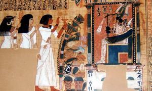 Portada - Fragmento del Libro de los Muertos del escriba Nebqed, reinado de Amenofis III (1391 a. C. – 1353 a. C.), dinastía XVIII. Nebqed comparece ante el dios egipcio de los muertos seguido por su madre Amenemheb y su esposa Meryt. (Public Domain)