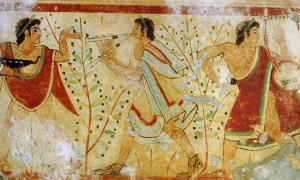 Portada - Togas etruscas. (Yann Forget/Dominio público)