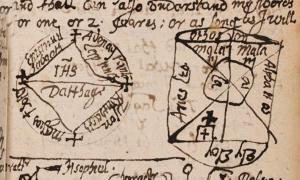 Portada - Una de las páginas de 'El Libro de Encantamientos Mágicos'. Crédito: Biblioteca Newberry