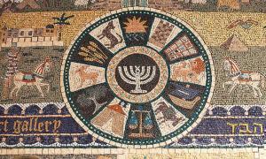Portada - Mosaico de un barrio judío en el que aparecen representadas las doce tribus de Israel, incluida la de Dan (CC 2.0)