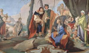 Portada - 'Raquel oculta los ídolos', fresco de Giovanni Battista Tiepolo. (Public Domain)
