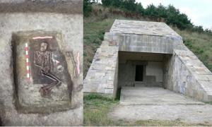 Portada - La tumba de un hombre inusualmente alto de la Edad del Bronce recientemente descubierta en Bulgaria. (Museo de Primorsko/Nova TV) Imagen representativa de la entrada a un túmulo cercano a la ciudad de Strelcha, Bulgaria. (Dominio público)
