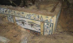 Portada - Ataúd recientemente descubierto de una mujer de la aristocracia de la XII dinastía del antiguo Egipto.