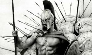 Portada - Rey Leónidas, ilustración de David Baldo (deviantart)