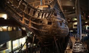 Portada - Vista de la proa del Vasa.