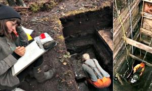 Portada - Fotografías del equipo de investigadores trabajando en el importante yacimiento canadiense. (Código Oculto)
