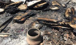Portada - Se calcula que aproximadamente el 95% del yacimiento arqueológico peruano de Ventarrón ha sido destruido por el fuego, incluyendo uno de los murales más antiguos del continente americano. Fuente: Ignacio Alva Meneses