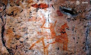 Portada - Una de las numerosas pinturas rupestres descubiertas en el yacimiento arqueológico de La Pintada. (Fotografía: Proyecto Arqueológico La Pintada/INAH)