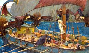 Ulises y las sirenas, óleo sobre lienzo de John William Waterhouse. National_Gallery of Victoria, Melbourne, 1891