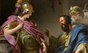 Alcibíades recibe la primera parte de su educación clásica de manos de Sócrates.