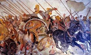 Otra de las batallas importantes de Alejandro: la batalla de Issos entre Alejandro Magno y Darío de Persia. Imagen representativa solamente (dominio público)