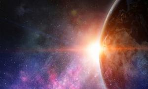 """El exoplaneta """"K2-18b"""" tiene un 50% de agua que podría albergar vida extraterrestre. Fuente: Sergey Nivens/ Adobe Stock."""
