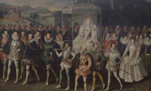 Procesión retrato de Isabel I, enamorada de Robert Dudley, un hombre que ya estaba casado con Amy Robsart. Una historia clásica de privilegios reales y ambición por la intimidad con el poder más alto del país.
