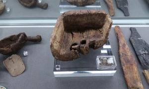 El antiguo plato de mantequilla encontrado en Loch Tay, Escocia, que data de la Edad del Hierro Fuente: Scottish Crannog Center