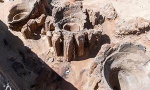 Se ha descubierto una enorme fábrica de cerveza antigua en el famoso sitio arqueológico de Abydos en Egipto. (Ministerio de Turismo y Antigüedades)