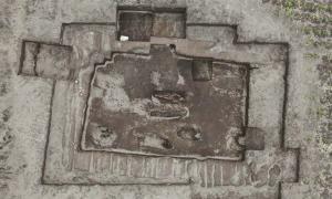 Vista aérea del antiguo cementerio Inca descubierto recientemente en Ecuador.