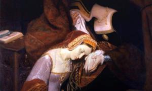 """Ana Bolena en la torre"" de Édouard Cibot. (Dominio público)"