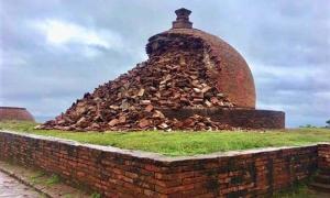 una estupa budista en el monasterio budista de Thotlakonda Fuente: VAdkri / Twitter