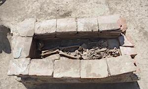 Una de las tumbas guerreras Avar desenterradas en el cementerio de la ciudad de Vinkovci en Croacia. Fuente: Ivan Bosancic