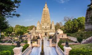 Templo Mahabodhi, Bodh Gaya, India. El sitio donde Buda alcanzó la iluminación.